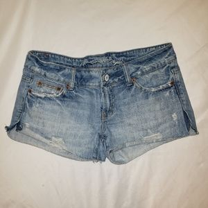 AEO | faded distressed shorts